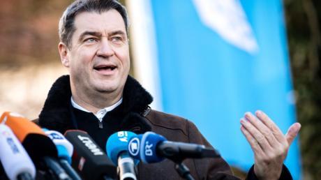 Markus Söder bei der Winterklausur der CSU-Landesgruppe.