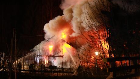 Ein Weitnau ist in der Nacht zum Dienstag ein Wohnhaus ausgebrannt.