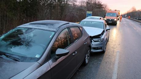 Auf dem Autobahnzubringer hat es am Mittwoch gekracht.