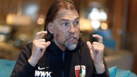 Trainer Martin Schmidt hat im letzten Testspiel seiner Profis im Trainingslager Fehler ausgemacht.