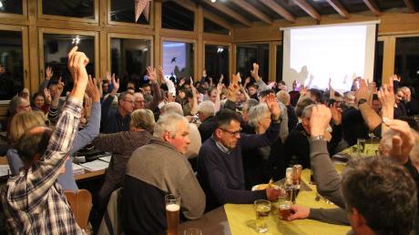 Die Nominierungsversammlung der Wählergemeinschaft Tussenhausen endete mit einer Überraschung.