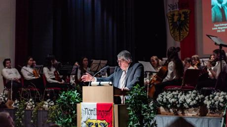 Wilfried Sponsel auf dem Neujahrsempfang in Nördlingen.