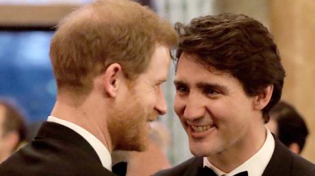 Prinz Harry und Kanadas Premierminister Justin Trudeau verstehen sich gut.