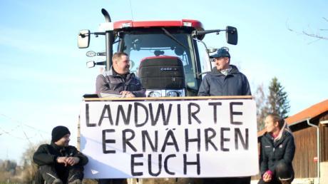 Bauern aus dem Landkreis debattieren in Berlin.