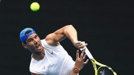 Rafael Nadal im Training: Bei den Australian Open 2020 sind die Waldbrände in Australien ein Thema.