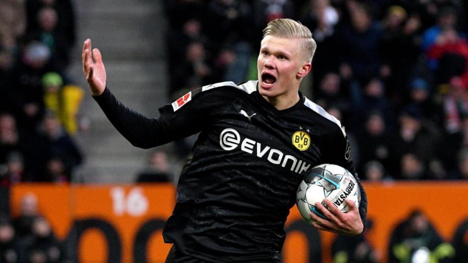 Er kam und traf: Erling Haaland war beim Sieg der Dortmunder die entscheidende Figur. Der Norweger erzielte in 23 Minuten drei Treffer und feierte ein perfektes Bundesligadebüt.
