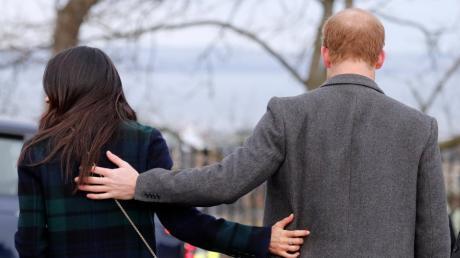 """Ende der royalen Verpflichtungen: Der britische Prinz Harry und seine Frau, Herzogin Meghan, dürfen sich nicht länger """"Königliche Hoheiten"""" nennen."""