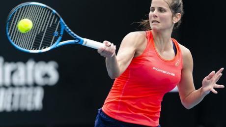 Julia Görges während des Spiels gegen die Slowakin Viktoria Kuzmova.