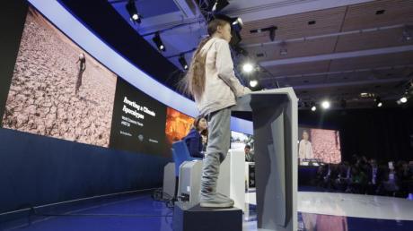 «Unser Haus brennt noch immer», sagte Greta Thunberg beim Weltwirtschaftsforum in Davos.