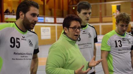Anita Steiner bei einem früheren Spiel der Kissinger Handballer.