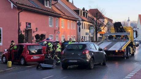 In der Landsberger Katharinenstraße hat sich am Freitagmorgen ein Verkehrsunfall ereignet.