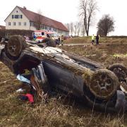 In der Gemeinde Breitenthal (Landkreis Günzburg) ist es am Samstag zu einem schweren Verkehrsunfall gekommen.