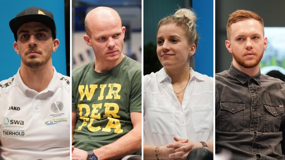 Sideris Tasiadis, Tobias Werner, Tina Rupprecht und Simon Sezemsky.