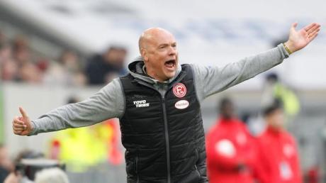 Uwe Rösler feierte sein Debüt als Trainer von Fortuna Düsseldorf.
