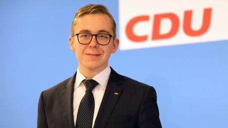 Philipp Amthor (27) sitzt für die CDU im Bundestag. Nun will er Landeschef seiner Partei in Mecklenburg-Vorpommern werden.