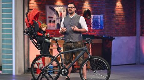 """Fabian Müller hat seine Erfindung bei der TV-Show """"Das Ding des Jahres"""" präsentiert."""