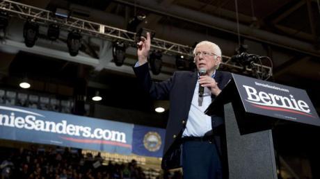 Der demokratische Bewerber um die Präsidentschaftskandidatur,Bernie Sanders.