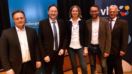 Die Kandidaten (von links) Gerd Mannes, Hans Reichhart, Luise Bader, Max Deisenhofer und Rudolf Ristl.