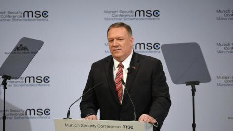 US-Außenminister Mike Pompeo spricht auf der 56. Münchner Sicherheitskonferenz.