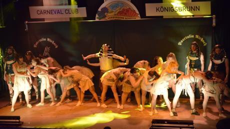 Die Paartalia aus Aichach zeigte beim Showabend des CCK Fantasia in Königsbrunn eine Geschichte aus dem alten Ägypten.