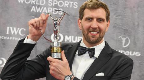 Wurde mit dem Laureus-Preis für sein Lebenswerk ausgezeichnet: Ex-NBA-Star Dirk Nowitzki.