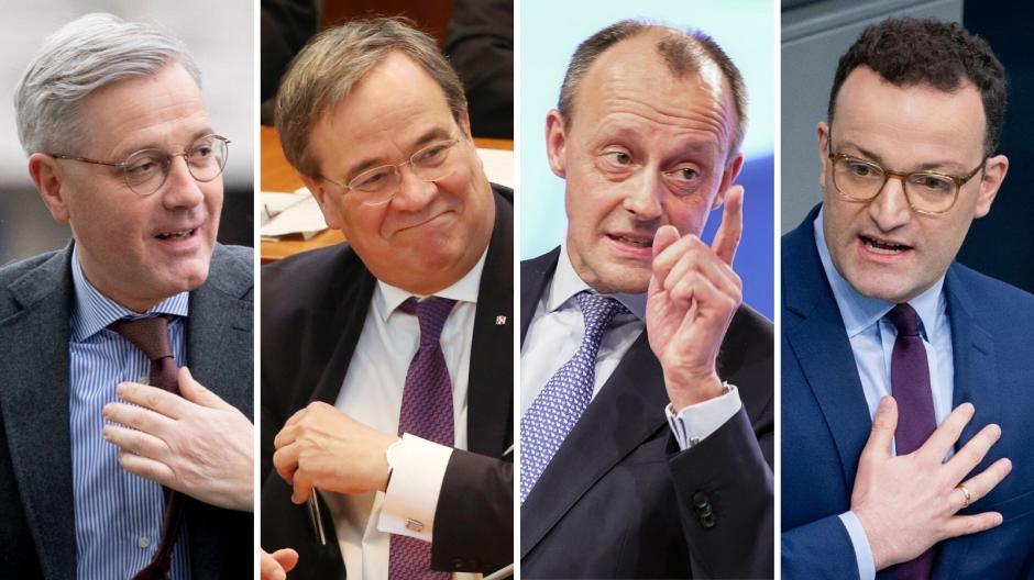 Viermal männlich: Norbert Röttgen, Armin Laschet, Friedrich Merz und Jens Spahn werden derzeit als kommende CDU-Vorsitzende gehandelt.