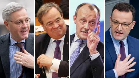 Norbert Röttgen, Armin Laschet, Friedrich Merz, Norbert und Jens Spahn werden derzeit als kommende CDU-Vorsitzende gehandelt.