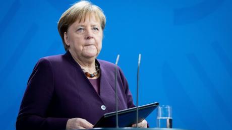 Kanzlerin Merkel äußerte sich am Donnerstagmittag zum mutmaßlichen Terroranschlag in Hanau.