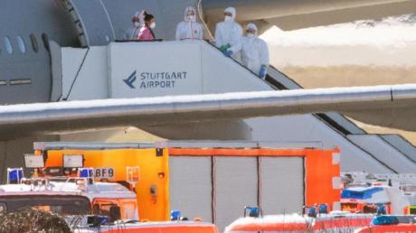 Die Behörden gehen davon aus, dass die aus Wuhan ausgeflogenen Menschen gesund sind.