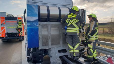 Die Feuerwehr war auf der A8 im Einsatz.