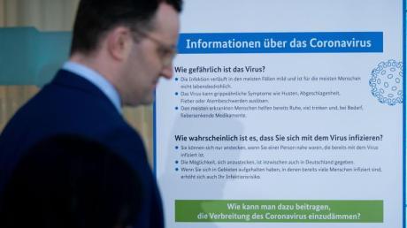 Jens Spahn (CDU) nach einem Treffen der Gesundheitsminister von Bund und Ländern im Bundesgesundheitsministerium.