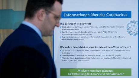 Bundesgesundheitsminister Jens Spahn: «Wir schützen mit dieser Vorsicht vor allem unsere älteren und chronisch kranken Mitbürger.».