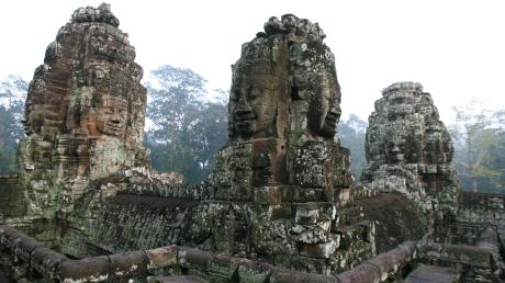 Wegen Corona leerer: Die berühmten Ruinen von Angkor Wat in Kambodscha können länger besichtigt werden.