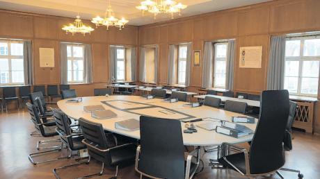 Der Sitzungssaal des Rathauses Mindelheim.