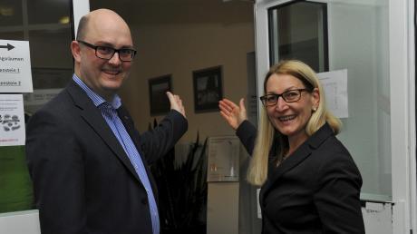 Sie werden in der Stichwahl gegeneinander antreten: Ralf Kindelmann (CSU) und Mirjam Steiner (SPD).