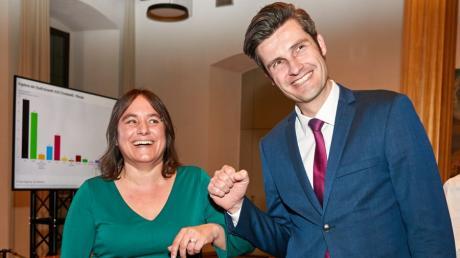 Martina Wild und Dirk Wurm wollten beide in die Stichwahl, Dirk Wurm hat es geschafft. Dennoch haben auch die Grünen gewonnen - irgendwie. Und die SPD gleichzeitig verloren.