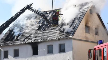 Mitte März brannte dieses Haus an der Bleichstraße in Burgau.