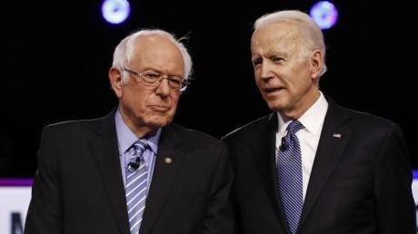 Das Duell ist praktisch entschieden: Joe Biden (rechts) wird wohl der Präsidentschaftskandidat der Demokraten, nicht Bernie Sanders.