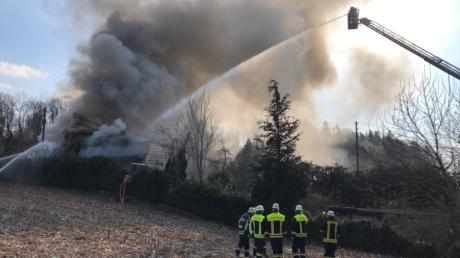 Die Feuerwehr musste wegen eines Brands anrücken.