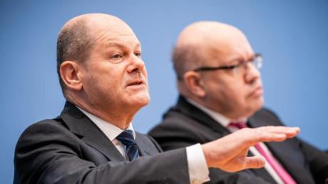 Finanzminister Olaf Scholz (links) neben Wirtschaftsminister Peter Altmaier.