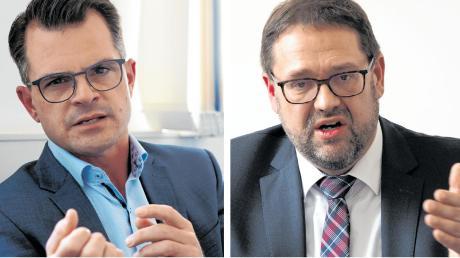 Wer schafft es in Donauwörther Rathaus? Jürgen Sorré (links) oder Michael Bosse?