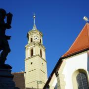 KW 12. Kirche St. Anna mit Goldschmiedebrunnen.