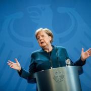 Bundeskanzlerin Angela Merkel wird am Montag ein Videostatement abgeben.