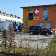 In der Flüchtlingsunterkunft Haus Noah, in der Gögginger Friedrich-Ebert-Straße kam es am Samstag zu einem tödlichen Familienstreit.
