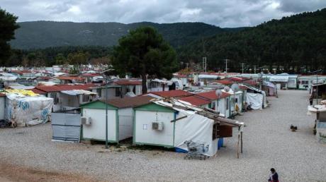 Das Flüchtlingslager «Gerakini» in Malakasa nahe Athen.