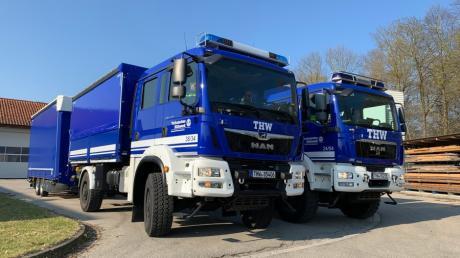 Mit zwei LKW und einem großen Transportanhänger holt das THW seit Mitte März Schutzausstattung und Desinfektionsmittel. Die Verteilung des Materials erfolgt nach einem vorgegebenen Schlüssel.