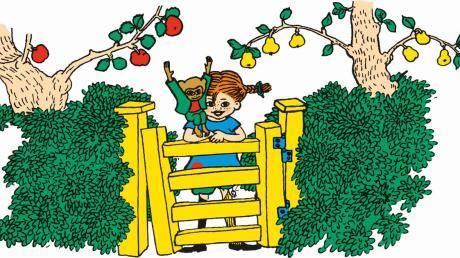 Was für ein Kind! Pippi Langstrumpf., wie sie von Ingrid Vang Nyman in der schwedischen Erstausgabe des Buches gezeichnet wurde