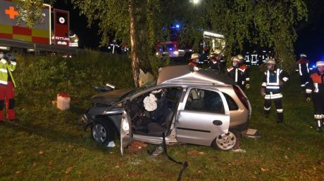 Eine 46-Jährige wurde bei einem Unfall in der Nähe der Wennenmühle bei Alerheim schwerstverletzt.