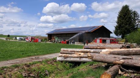 Der Brand einer Photovoltaikanlage in Egelhofen entpuppte sich als weniger schlimm als zunächst befürchtet.