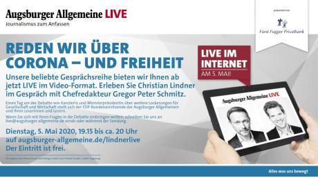 FDP-Chef Christian Lindner beantwortet im Livetalk am Dienstag die Fragen von Gregor Peter Schmitz.